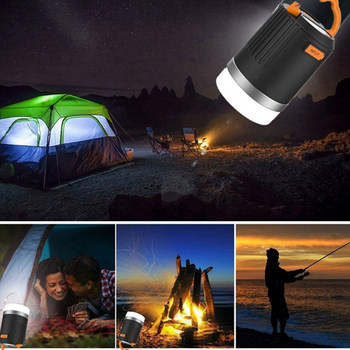 Luz Led Alimentada Por Batería | ARILUX 440 Lúmenes Portátil Para Acampar Al Aire Libre Linterna Multifunción USB Recargable LED Con Banco De Energía De 10400 MAh