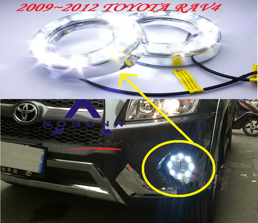 car-styling,2009~2012/2013~2015 RAV4 daytime light,led,Free ship!2pcs/set,RAV4 fog light;car-covers,RAV4,RAV 4 car styling rav4 taillight 2009 2012 led free ship 4pcs set rav4 fog light car covers chrome car detector rav4 tail lamp rav 4