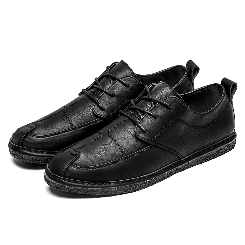 Chaussures Automne Brun Casual Mâle Cuir Simple De Split brown Confortable Homme Printemps En D'affaires Hommes gray Black Noir Bq5vtfn