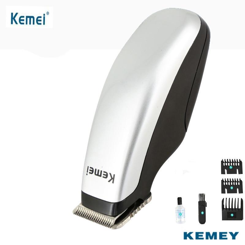 Kemei Electric Hair Trimmer Clipper Battery Operated Razor Blades Men Children Hair Shaver Cutting Machine For Haircut