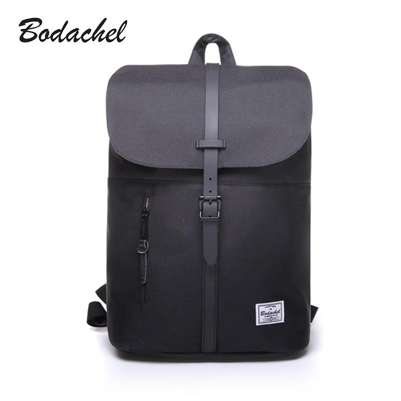 Bodachel Women Backpack Oxford Simple Design 14'' Notebook Backpacks Waterproof High Quality Bucket Backpack Sac A Dos Rugzak