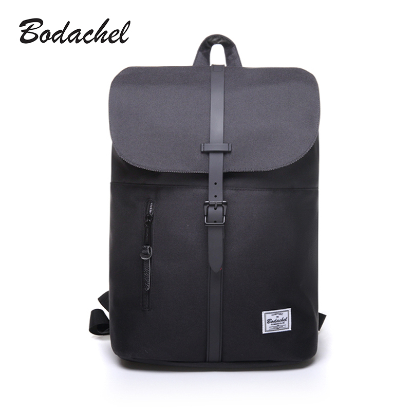 Bodachel Women Backpack Oxford Simple Design 14'' Notebook Backpacks Waterproof High Quality Bucket Backpack sac a dos rugzak