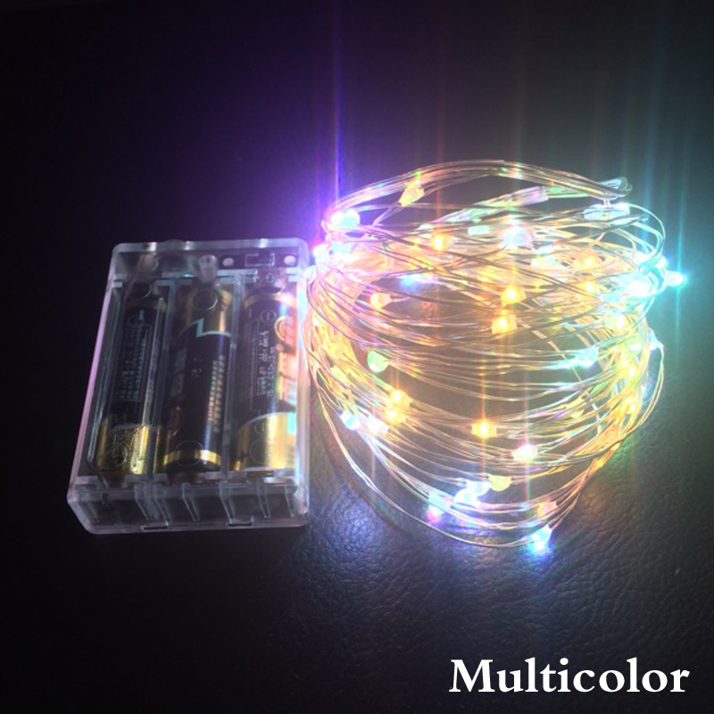 2m 5m 10m led 3aa battery operated copper wire colorful tiny string fairy light for christmas holiday wedding party decoration in led string from lights