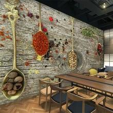 Papel pintado personalizado beibehang 3d catering restaurante sala de estar fondo de sala Vintage de pared material de chapa de madera Daquan papel tapiz 3d