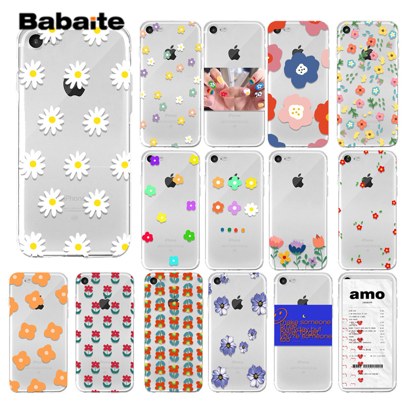 Babaite Summer small daisies Phone Case For iPhone X XR XS Max 7 8 6 6s Plus 5 5s SE flower Soft TPU Silicone Back Cover