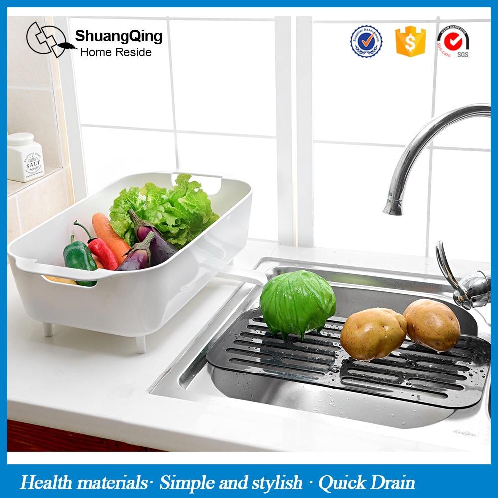 Kicthen plástico del estante de drenaje estante para platos estante desagüe del