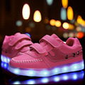 2016 Children's LED Lights shoes Boys/Girls USB charger lighted schoenen Kids sport shoes chaussure Luminous fashion sneakers
