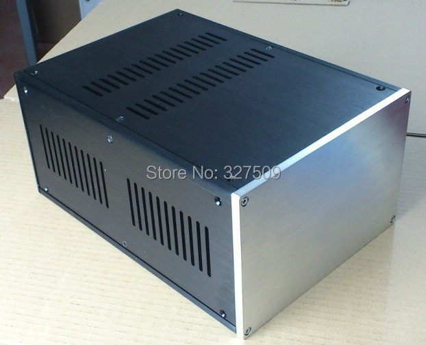 full aluminum power amplifier case AMP BOX power supply chassis PSU enclosure DIY audio breeze audio power amplifier aluminum chassis amp case bz3207s box