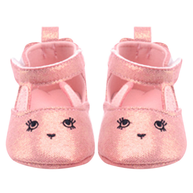 98b90f8124 US $3.5 |0 18M Infant Toddler Crib Shoes Soft Sole Sequins Frincess Baby  Shoes Non Slip Sneaker Bling Bling Pink PU leather First Walker-in First ...