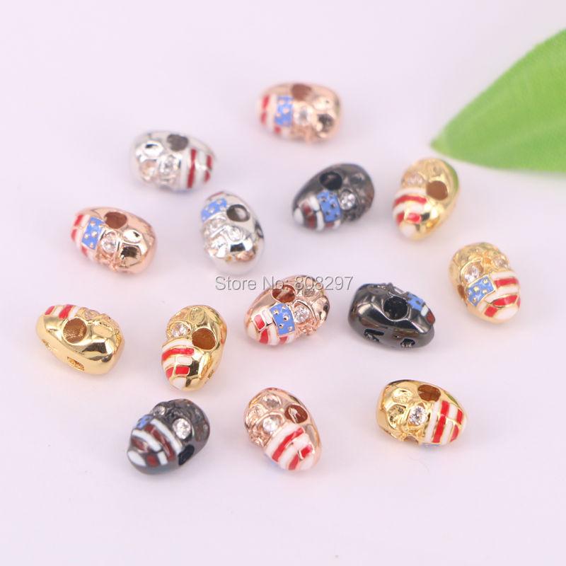 15Pcs Enamel SuperHero bead,Gold Silver Black Gun Rose Gold Charm Beads Fit Men Bracelet,Fashion Jewelry Findings,11mm