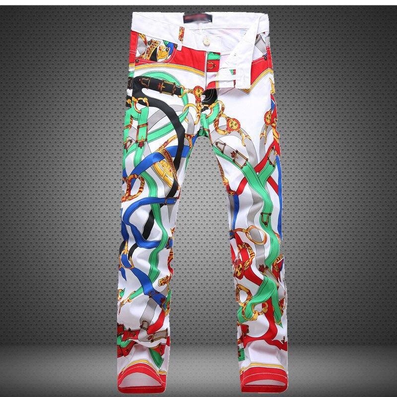 2017 Mens Pants White Track Punk Pencil Casual Skinny Hip Hop Pants Casual Nightclubs Skinny Trousers Man Harem Sweat Streetwear