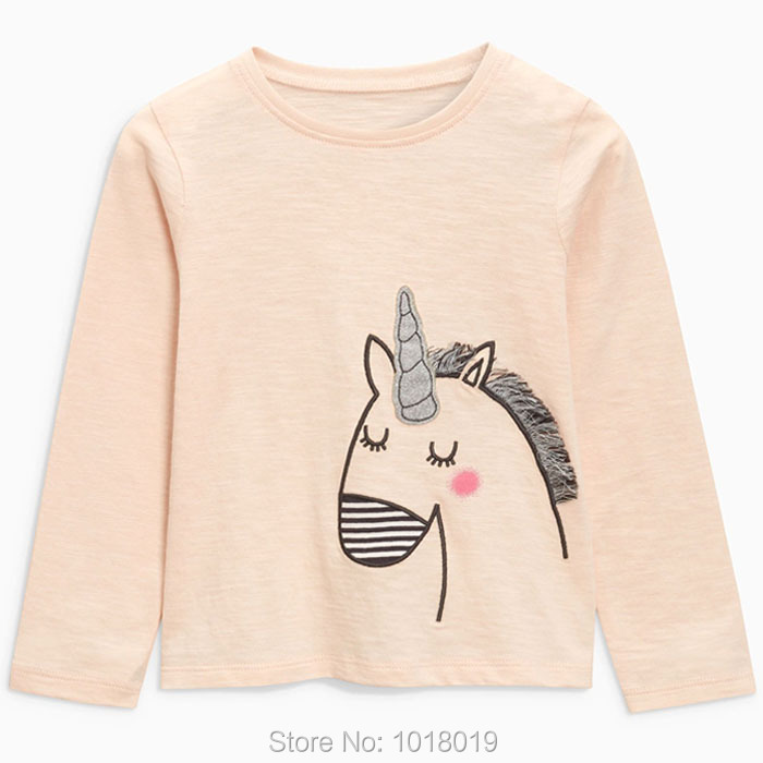New 2018 Baby Girls t shirt Brand Quality 100% Cotton Baby Girl Clothes Kids t-shirt Long Sleeve Children Clothing tshirt Blouse