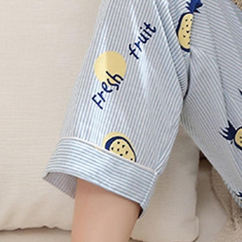 1685b98f06 Women Cardigan Pajama Sets Long Sleeve Autumn Winter Cotton Pajamas For Women  Pineapple Mujer Homewear Casual Sleepwear XXXL-in Pajama Sets from  Underwear ...