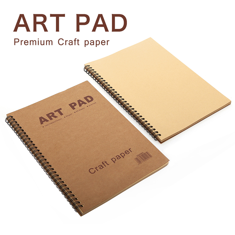 ART PAD 16K 60 Sheet Sketch Book Notebook 80gsm Craft Paper Stationery Notepad For Painting Drawing Toner Pencil Color Pencils