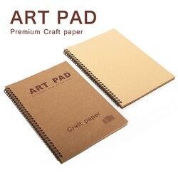 ART PAD 16K 60 arkusz szkicownik Notebook 80gsm rzemiosła papieru piśmienne notatnik do malowania rysunek z tonerem ołówek kolorowe kredki