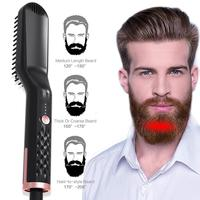 Multi functional Men Styling Hair Comb Brush Beard Straightener Hair Straighten Straightening Comb Hair Curler Men Styler Tool