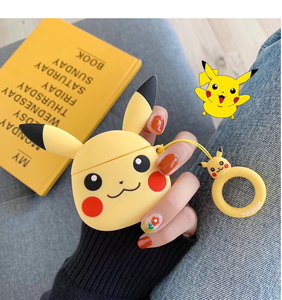 Image 4 - Applicable to Airpods1 cartoon silicone case AirPods2 skin protection cover Bluetooth wireless earphone box cute