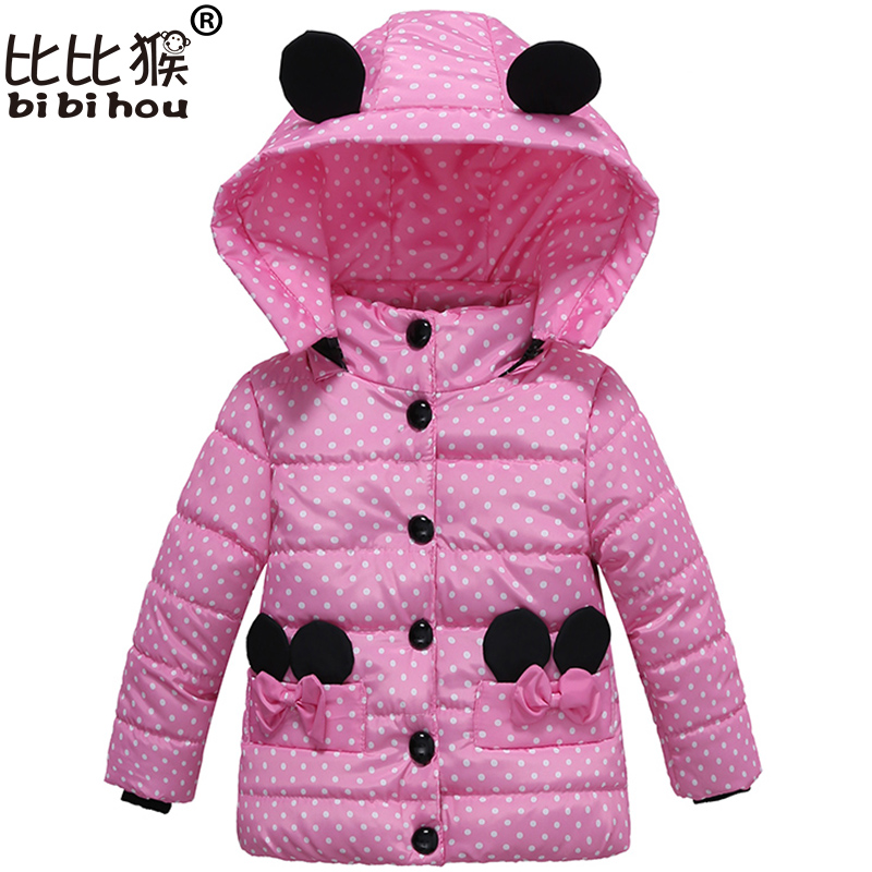 winter jacket for Girl hello kitty Winter Warm Children jacket Outwear boy Coats Long Sleeve rabbit Hooded Cotton Baby Kids Coat new arrival spring printing pattern cotton 2017 child cartoon design fox baby hooded boy girl jacket outwear coats kids clothing