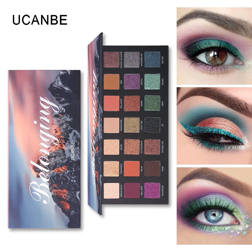 UCANBE Brand Belonging Shimmer Matte Eyeshadow Makeup Palette 21 Colors Glitter Long Lasting Pigment Eye Shadow Sombras Cosmetic