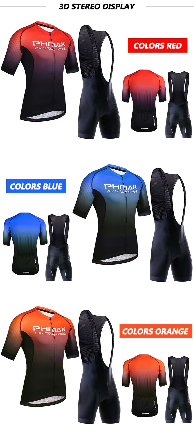 HTB1sBtvbL1G3KVjSZFkq6yK4XXam PHMAX Pro Cycling Clothing Men Cycling Set Bike Clothes Breathable Anti UV Bicycle Wear Short Sleeve Cycling Jersey Set For Mans