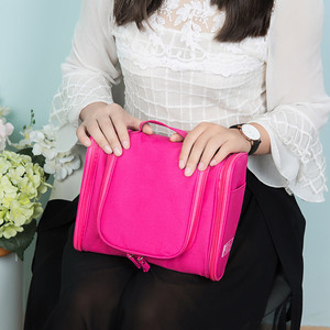 Image 5 - Foldable Travel Storage Oxford Bath Waterproof Wash Bag Home   Organizer Female Mens Multi Function Hanging Hook Package