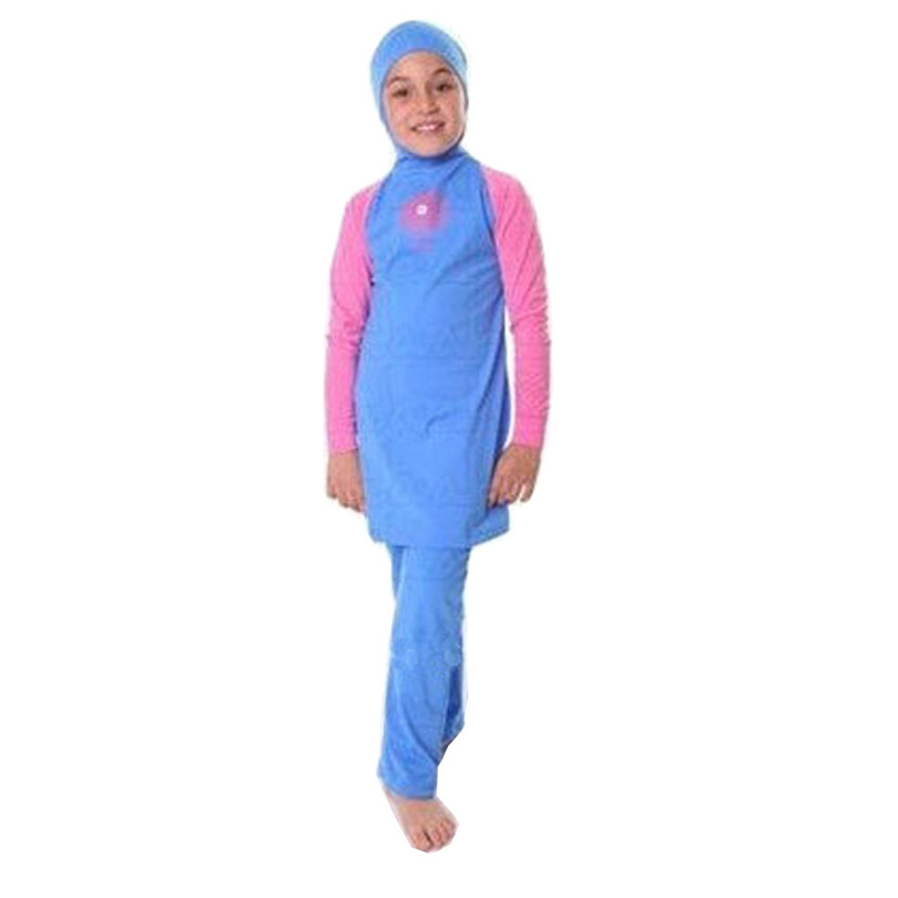 2018 Girl muslim swimwear Child swimsuit islamic swimwear For little Girl Islamic Clothing