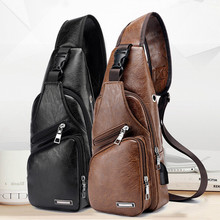 2019 сумка мужская Mens USB Charging Bag Chest For Custom PU PVC Shoulder Diagonal Package Messenger Travel