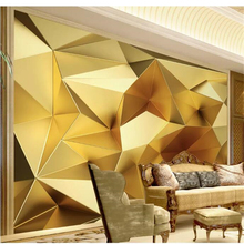 beibehang papel de parede para quarto Custom wallpaper Luxury gold geometric polygon 3d stereo European TV background wall
