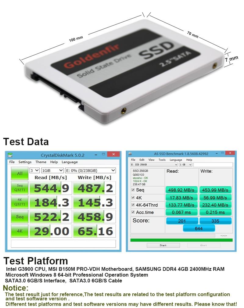 HD SSD 64GB 128GB 256GB 512GB 1TB 2TB Memória Goldenfir
