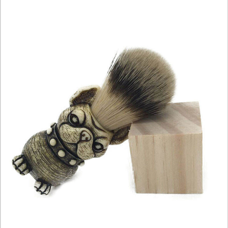 2017 Beard Brush dog Head Badger Hair brush Man Shaving Brush Makeup brush
