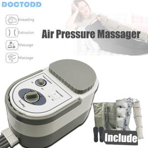 Image 2 - Air Wave Druk Massager Continue Compressie Circulatiepomp Been Arm Taille Been Massageing Machine Spieren Ontspannen Herstel Devic