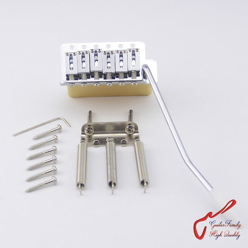 1 Set GuitarFamily Super Quality Chrome Tremolo System Bridge With Brass Block For Mexico Fender / Squier CV MADE IN TAIWAN fender squier sa 150 dreadnought nat