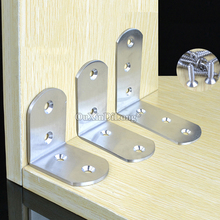 High Quality 100PCS Stainless Steel Right Angle Corner Braces L Shape Joint Shelf Support Brackets Furniture Connecting Fittings 2pcs stainless steel corner brackets right angle shelf bracket for furniture corner protector furniture hardware 125x125x3mm