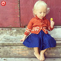 Children Girls Cardigan Orange Baby Boys Cotton Sweater Button Kids Warm Knitted Wear Clothes Crochet Coat Clothing 1-4Y