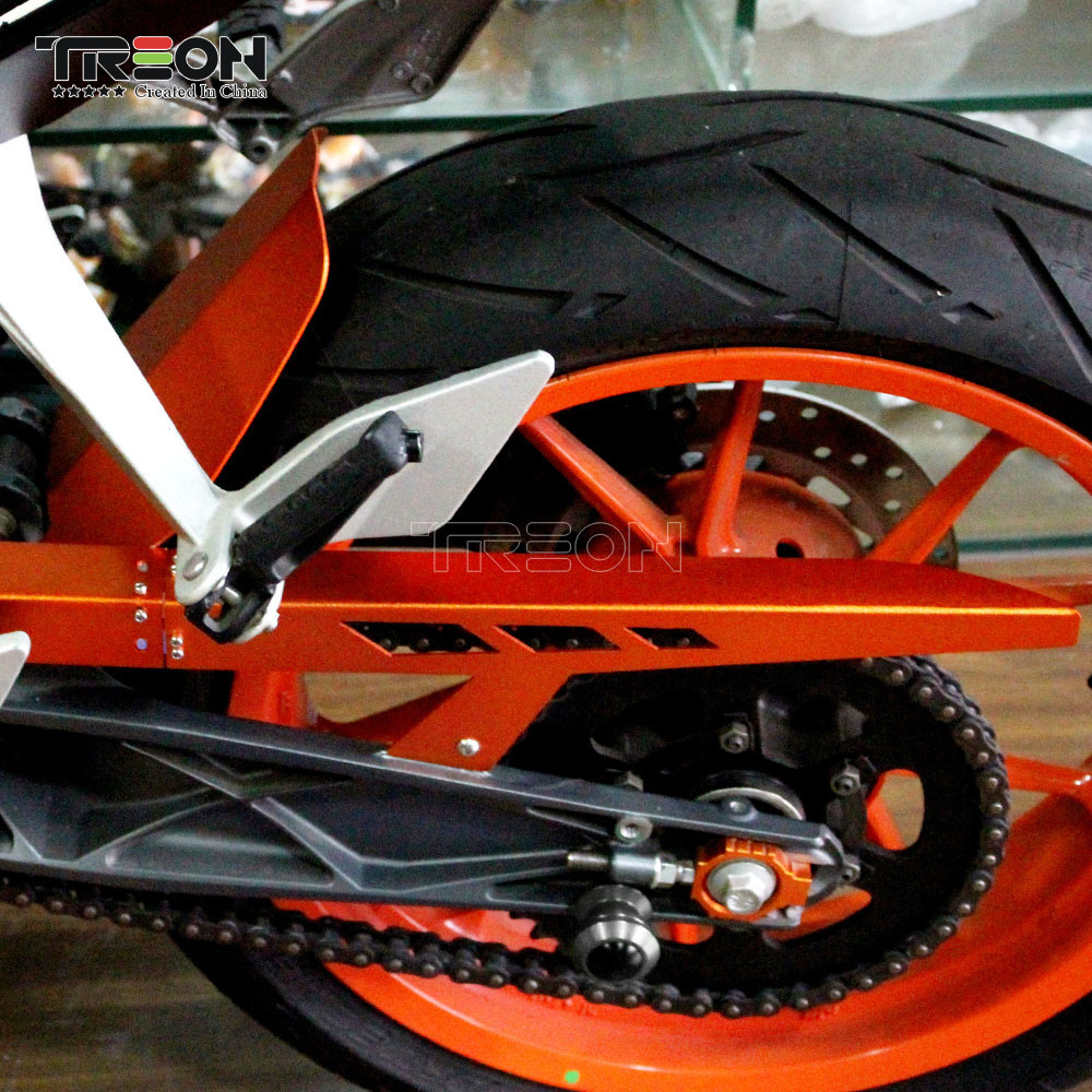 For KTM DUKE390 2013-2018 Orange Chain Cover Falling Protection Motorcycle Accessories  For KTM DUKE 250 200 125 2017 2018