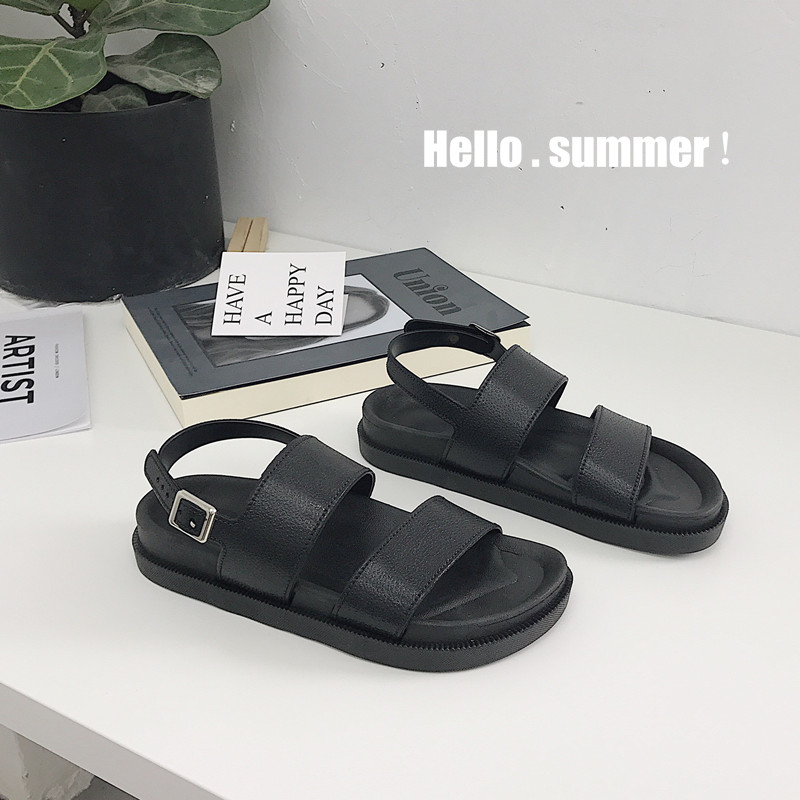 Mazefeng 2018 New Fshion Summer Women Shoes Rome Style Women Casual Sandals Solid Black Buckle Ladies Mazefeng 2018 New Fshion Summer Women Shoes Rome Style Women Casual Sandals Solid Black Buckle Ladies Sandals Vintage Flats