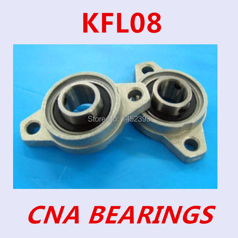 1 pz KFL08 FL08 cuscinetto flangia con blocchetto di cuscino 8mm calibro In Lega di Zinco Pillow Block Bearing per 8mm guida lineare