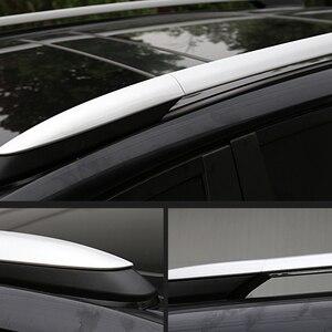 Image 2 - 2013 2014 2015 2016 2017 도요타 RAV4 XA40 실버 외관 자동차 자동 지붕 랙 레일 엔드 커버 셸 캡 교체 4PCS