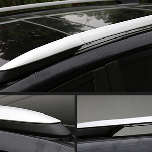 Image 2 - 2013 2014 2015 2016 2017 per Toyota RAV4 XA40 Argento Esterno Car Auto Roof Rack Ferroviarie Coperchio Borsette Cap di ricambio 4PCS