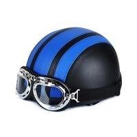 New Motorcycle Helmet Fashion Design Motorbike Motor Scooter Open Face Half Vintage Racing Helmets with Visor Goggles