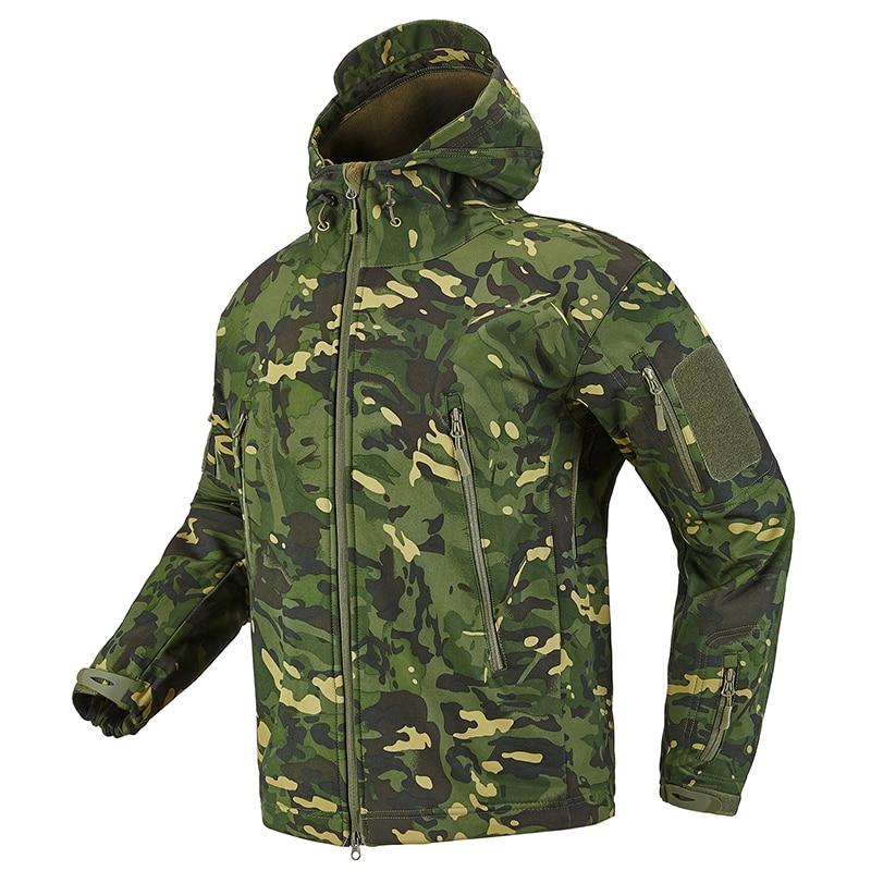 S.ARCHON Shark Skin Soft Shell Tactical Military Jacket Men Fleece Waterproof Army Clothing Multicam Camouflage Windbreakers Men 7