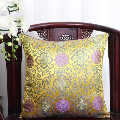 Винтажная квадратная большая подушка для дивана, стула, автомобиля, Высококачественная декоративная шелковая парчовая Подушка для спины 40x40 43x43 40x50 50x50 60x60 см - Цвет: Многоцветный