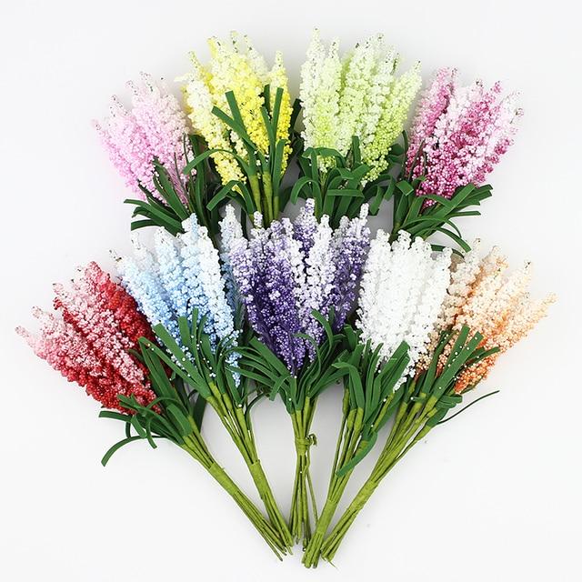 Artificial Lavender flower Bouquet, Multicolor foam flowers for ...