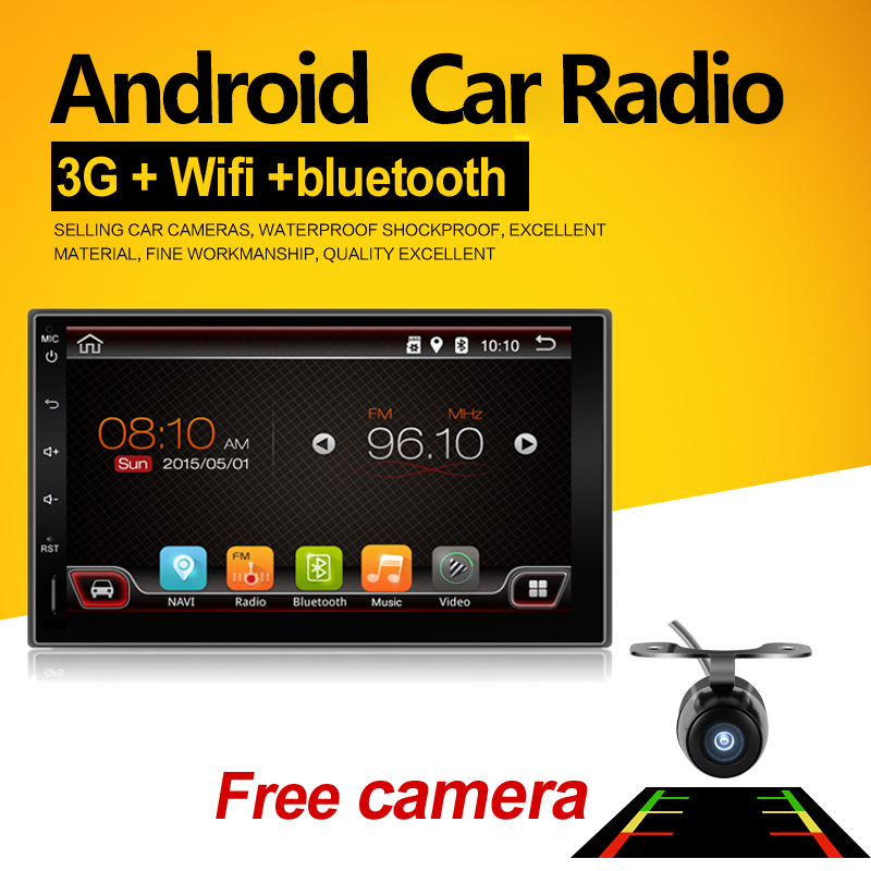 2 Din Android 6 0 Full Touch Car PC Tablet double Audio 7 GPS Navi Car