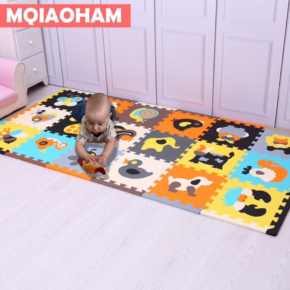 MQIAOHAM, 18 шт., с длинными краями, горячий детский игровой коврик-пазл, коврик-пазл из вспененного этилвинилацетата, водонепроницаемая, образов...