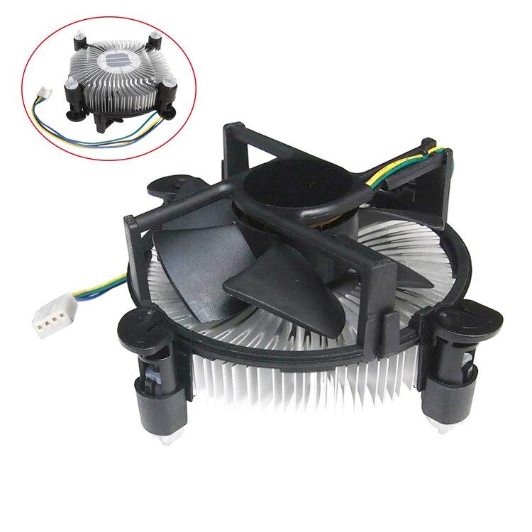 4 PinDesktop Ordinateur PC En Aluminium Radiateur CPU pas cher Refroidisseur Ventilateur pour LGA 775 ou LGA1155/1156/1150 3 type