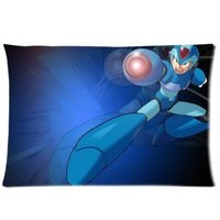 Zippered Pillow Protector Pillowcase Queen Size 20x30 Inches New Video Games Megaman Pillow Cover