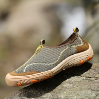 2018 New Style Fashion Hot Sale Summer Air Net Shoes Outdoor One Foot Pedal Feet Eyed Slacker Men's Casual Shoes Size 38 44