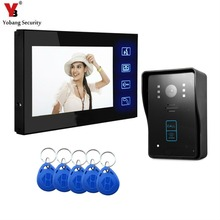 Yobang Security 7″Video Doorbell Intercom Entry System Camera LCD Video Door Phone Intercom Doorbell Home Security Doorphone