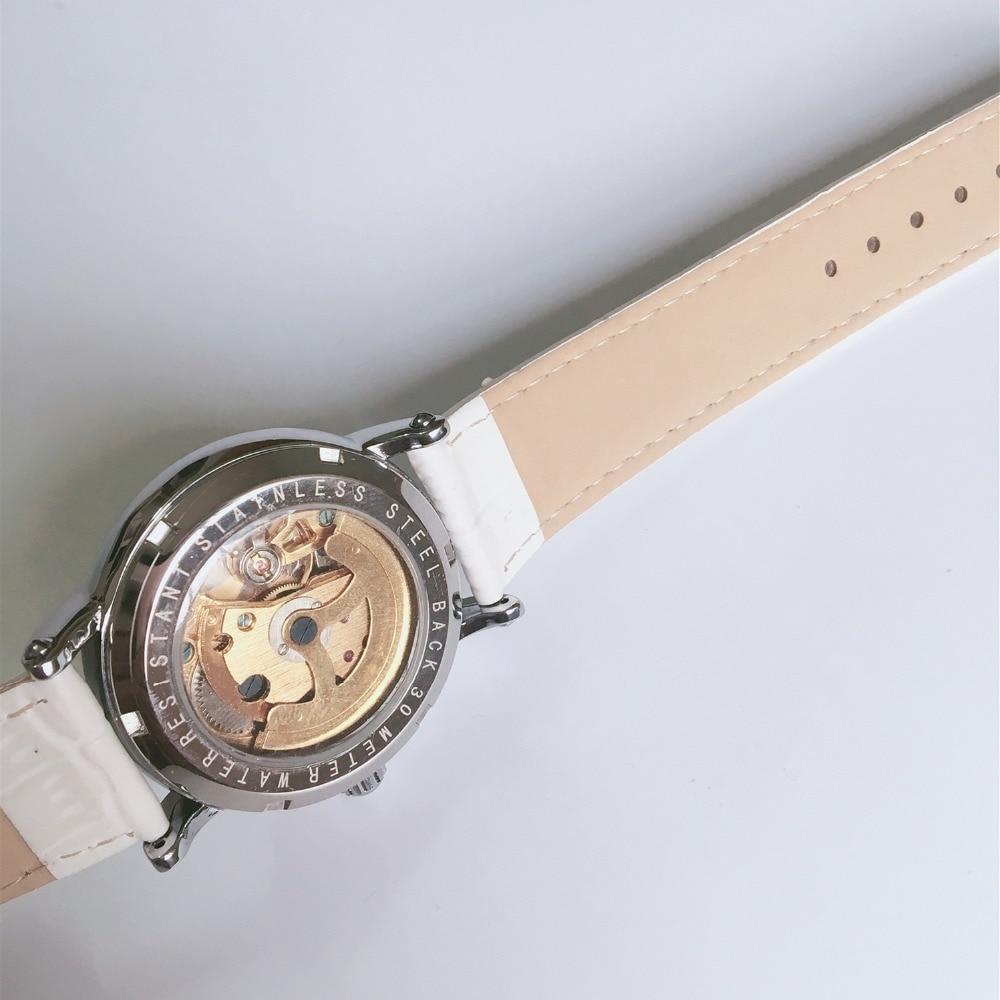 feminino borboleta relógio de pulso mecânico feminino